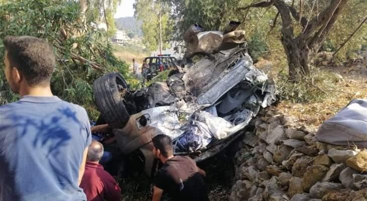 سقوط 4 جرحى بحادث سير على اوتوستراد إهدن
