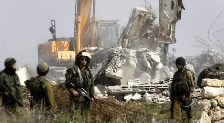 الجيش الاسرائيلي استأنف الحفر في الحرش المحاذي لموقع مسكافعام