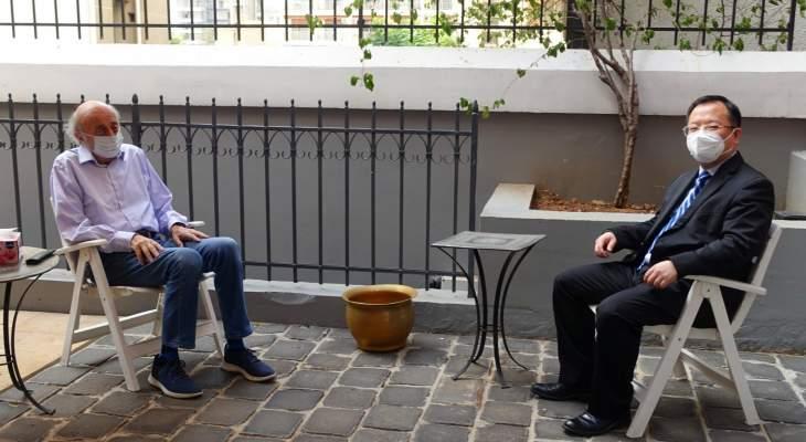 سفير الصين زار جنبلاط وبحث معه في سبل تطوير العلاقات