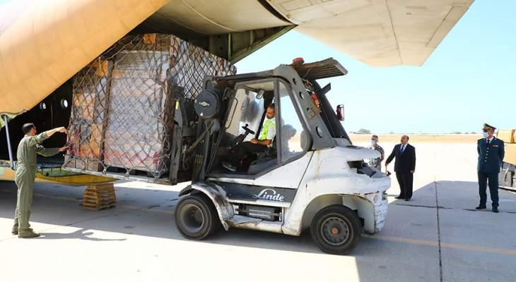 الجيش تسلم حوالى 11 طناً من المواد الطبية المقدّمة هبة من الأردن
