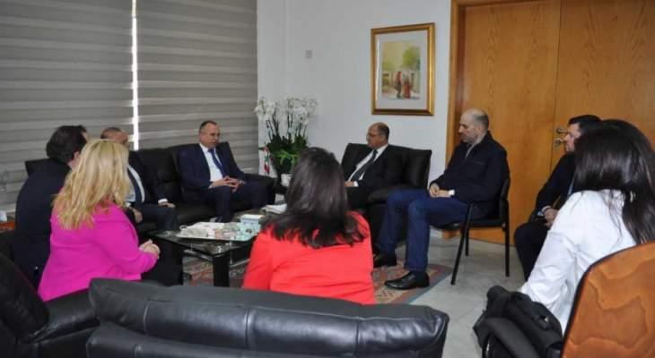 اللقيس التقى نظيره البلغاري والسفير الروسي والقائم بأعمال كازاخستان