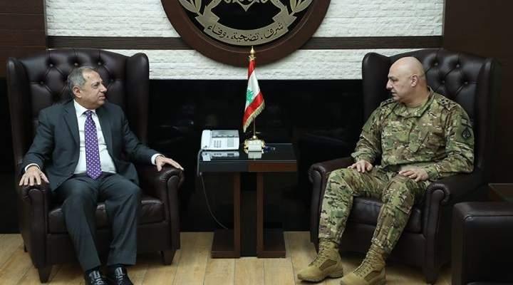 قائد الجيش بحث مع طرابلسي بالأوضاع العامة والتقى سفير إيطاليا بزيارة وداعية