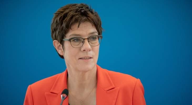 وزيرة الدفاع الألمانية تخضع للحجر الصحي الذاتي