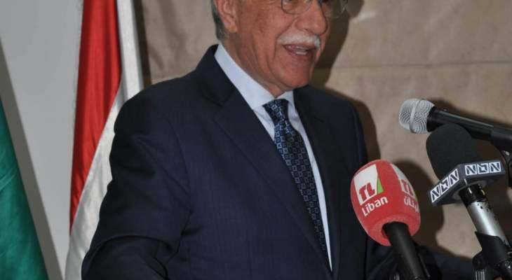 غازي زعيتر: سنبقى نعمل من أجل تحقيق جميع بنود البيان الوزاري