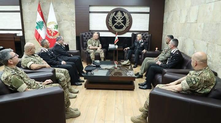 قائد الجيش التقى القائد العام للشرطة العسكرية الإيطالية والملحق العسكري المصري