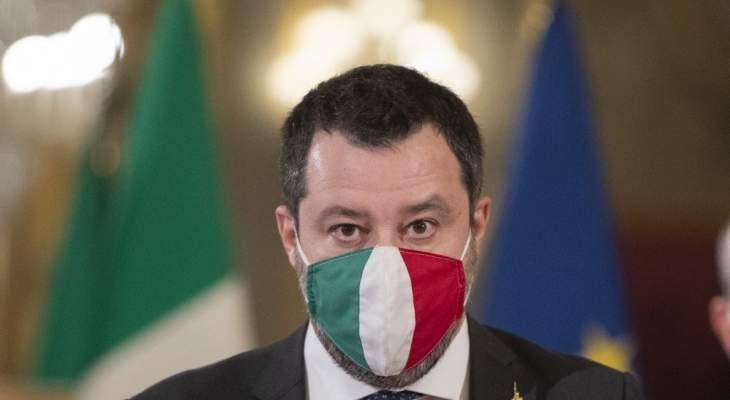 وزير داخلية إيطاليا السابق ماتيو سالفيني سيمثل أمام القضاء بتهمة احتجاز مهاجرين بالبحر