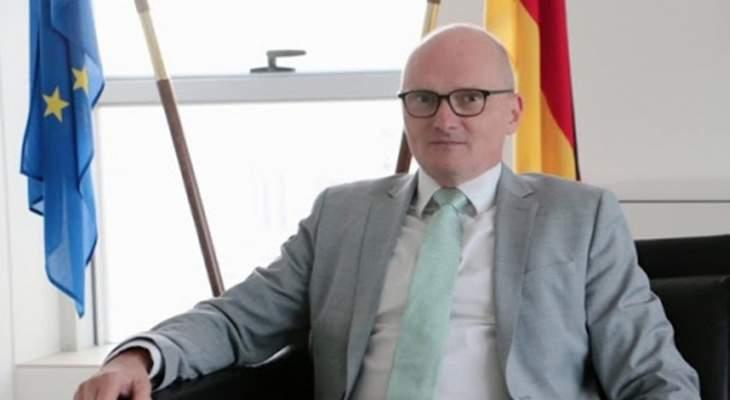 السفير الألماني في لبنان: لن تكون هناك جهوداً لاعادة اعمار المرفأ من دون اصلاحات