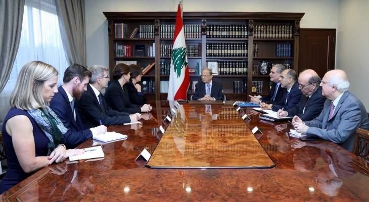 الرئيس عون: المطالب التي رفعها المعتصمون هي موضع متابعة وستكون من اول اهداف الحكومة العتيدة