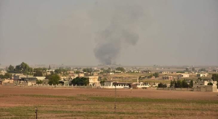 قصف تركي يستهدف مشارف مدينة تل أبيض بريف الرقة الشمالي