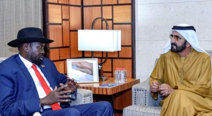 ولي عهد أبو ظبي ورئيس جنوب السودان بحثا بعلاقات البلدين