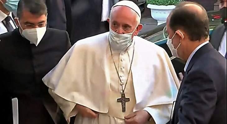 البابا فرنسيس: يوم أستطيع أن أرى وألمس لمس اليد أن الكنيسة بالعراق حية