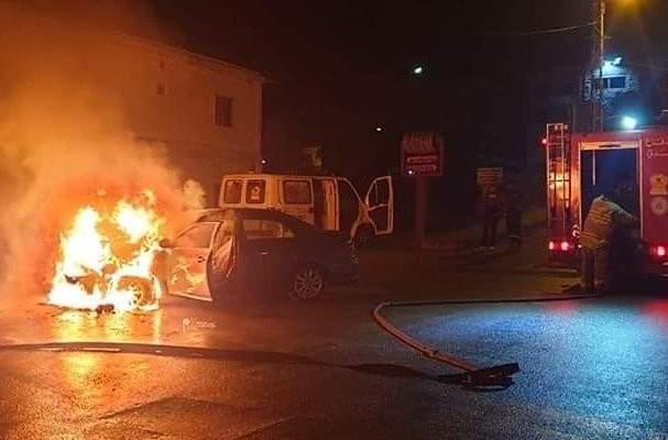 حريق داخل سيارة في البترون والاضرار مادية