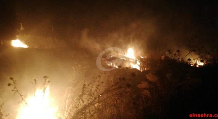 النشرة:  اندلاع عدد من الحرائق في مناطق متفرقة من النبطية