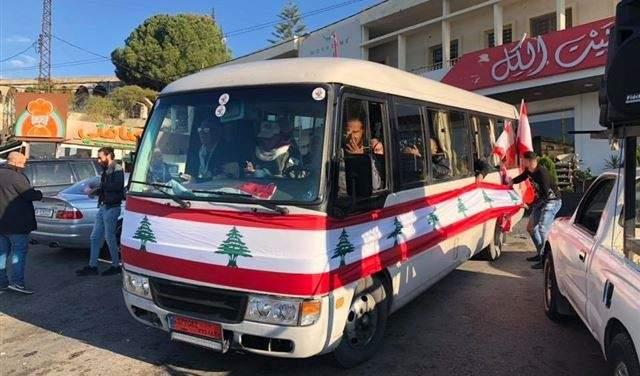 """""""قافلة الثورة"""" وصلت إلى ساحة النور في طرابلس"""