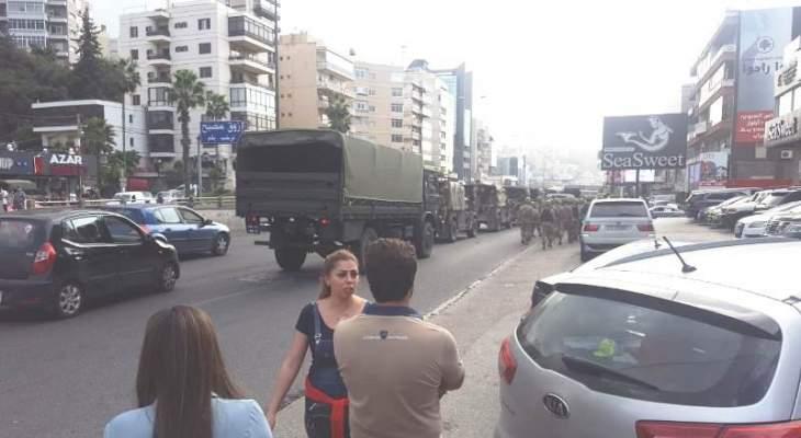 وصول قوة من الجيش والشرطة العسكرية الى زوق مصبح