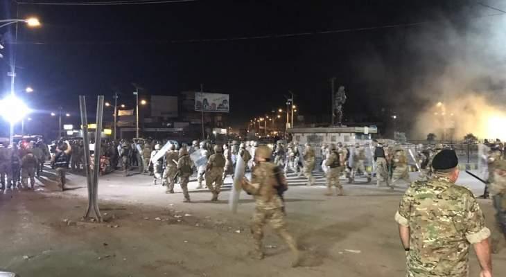 النشرة: الجيش اللبناني يعمل على فتح الطريق عند دوار العبدة