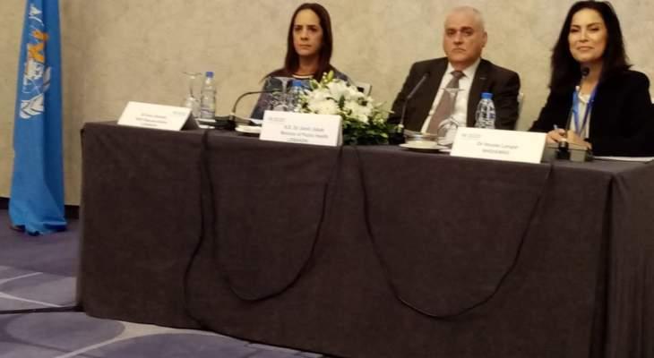 جبق يؤكد في الاجتماع الاقليمي لمنظمة الصحة العالمية الإلتزام بأهمية السلامة الدوائية