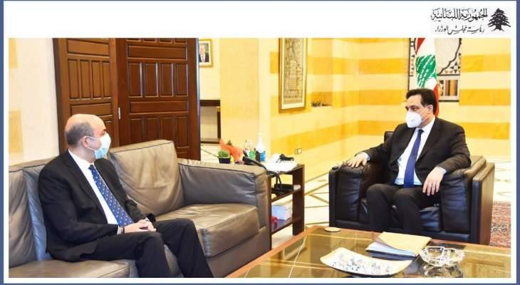 رئيس حكومة تصريف الأعمال استقبل سفير تركيا بزيارة وداعية