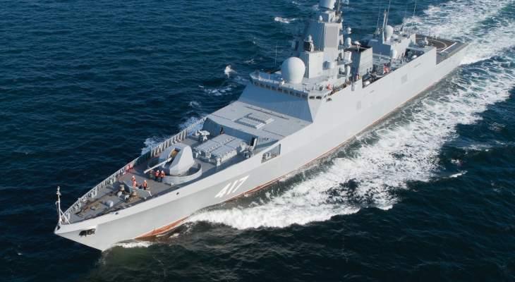 """وصول فرقاطة روسية إلى بحر بارنتس لاختبار صواريخ """"تسيركون"""" فرط الصوتية"""