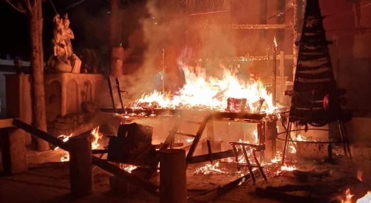 رابطة مخاتير البقاع الشمالي استنكرت حرق شجرة الميلاد بجديدة الفاكهة
