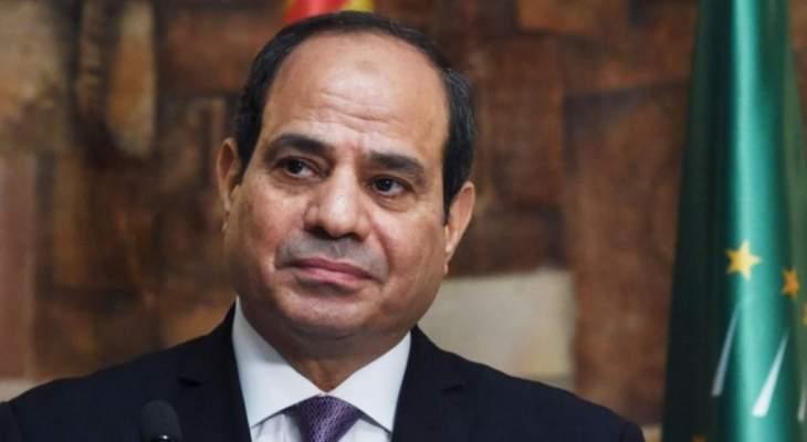السيسي: إعلان وقف العمليات العسكرية في ليبيا خطوة هامة على طريق التسوية