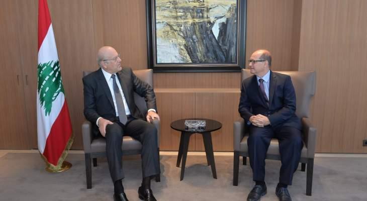 ميقاتي عرض مع سفير روسيا الجديد الاوضاع في لبنان والمنطقة