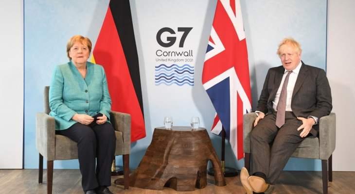 رئاسة وزراء بريطانيا: جونسون وميركل بحثا بأنشطة روسيا والصين المزعزعة للاستقرار
