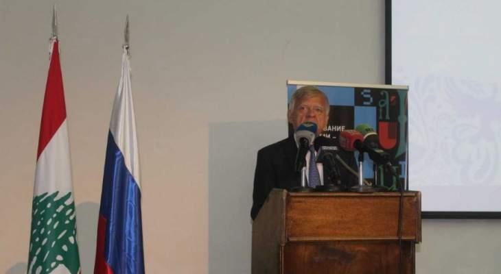 زاسبيكين: نسعى دائما لإيجاد الحلول وانتشار العدالة في الشرق الوسط وافريقيا