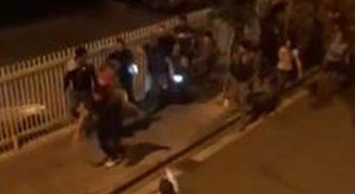 جرحى في تجدد الاشكال على اوتوستراد جل الديب بين الجيش والمتظاهرين