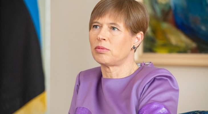 رئيسة إستونيا: وعدنا بالبدء بعقد أول نقاش حول الأمن السيبراني بمجلس الأمن
