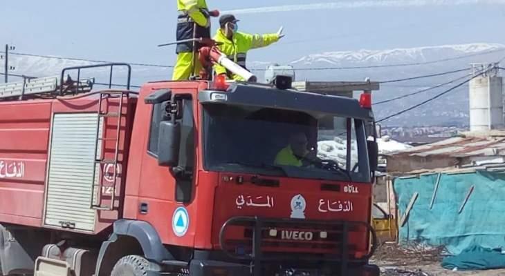 النشرة: اتحاد بلديات قرى شرق زحلة استكمل رش البلدات وتعقيمها