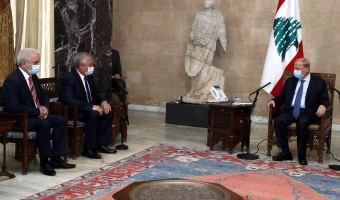الرئيس عون استقبل مبعوث الرئيس الروسي الخاص إلى سوريا ألكسندر لافرنتييف
