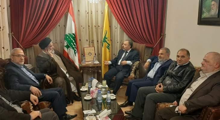 ابراهيم السيد عرض مع وفد من الحزب السوري القومي اخر التطورات في لبنان