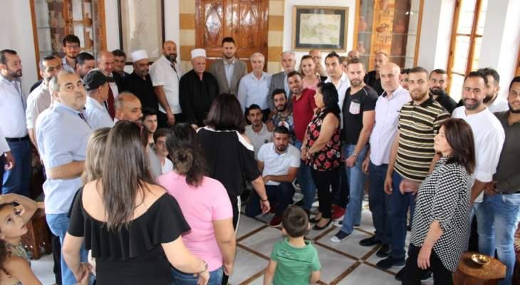 تيمور جنبلاط التقى وفودا محلية وأجنبية في المختارة بحضور شهيب وأبو فاعور