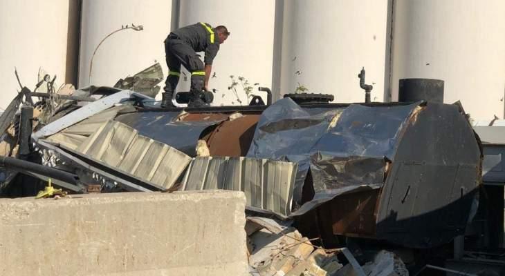 الدفاع المدني: نواصل عمليات البحث والإنقاذ والمسح الميداني بمرفأ بيروت