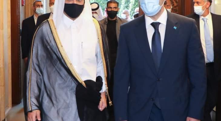 الحريري عرض مع وزير خارجية قطر بالأوضاع العامة والمستجدات السياسية