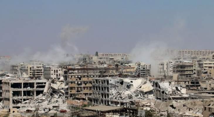 سقوط قذائف على حي جمعية الزهراء بمدينة حلب