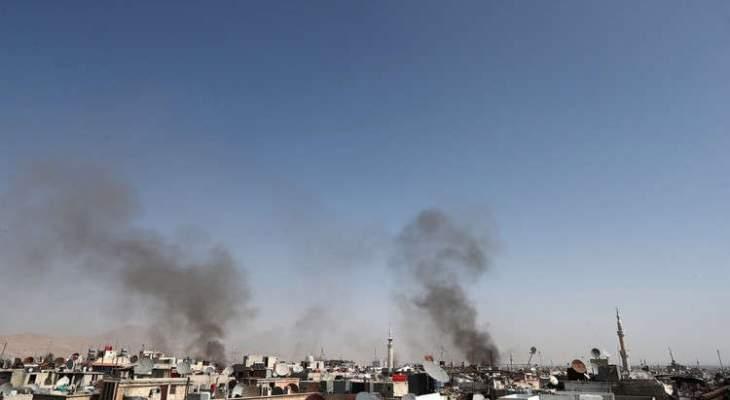 النشرة:جرحى نتيجة سقوط عدد كبير من القذائف الهاون على احياء دمشق