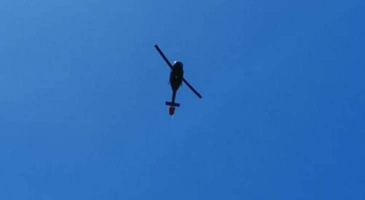 استقدام طوافة تابعة للقوات الجوية بالجيش للمساعدة باخماد حريق حرج المنصف