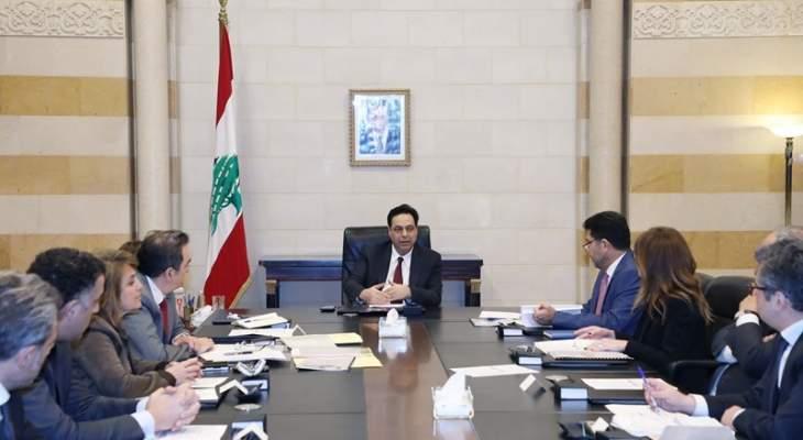 دياب: هناك جهات محلية وخارجية عملت وتعمل على محاصرة اللبنانيين