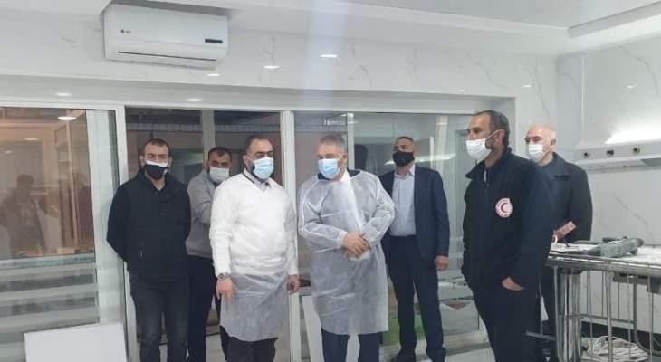 السفير الفلسطيني زار مستشفى الهمشري في صيدا واطلع على تجهيز القسم الجديد لكورونا