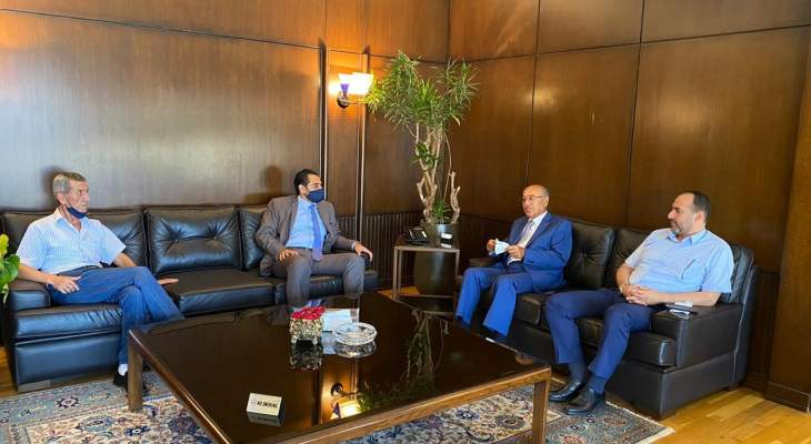 النشرة: ابو حيدر زار رئيس غرفة التجارة والصناعة والزراعة في صيدا