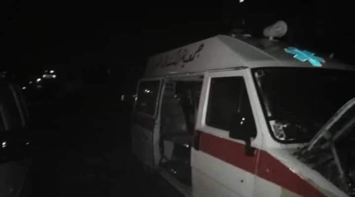 النشرة: احتراق إسعاف للكشاف العربي في صيدا دون وقوع إصابات