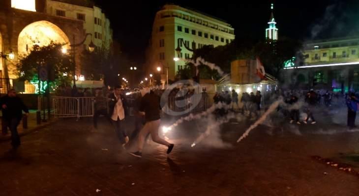 تعزيزات لقوة مكافحة الشغب وصلت إلى وسط بيروت