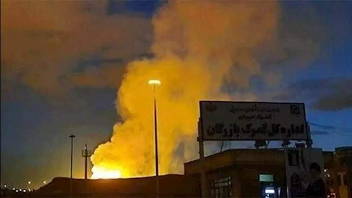 مقتل شخص وجرح 3 بانفجار خزان غاز أوكسيجن في باقر شهر في جنوب طهران