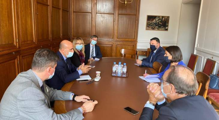 ابي رميا التقى اعضاء لجنة الصداقة الفرنسية اللبنانية ويواصل لقاءاته مواكبة لمبادرة ماكرون