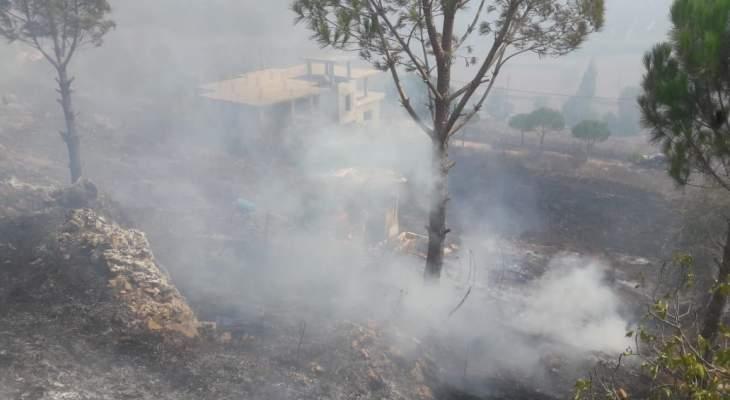 الدفاع المدني أخمد حريقاً في دبين قضاء مرجعيون