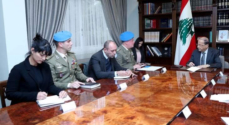 الرئيس عون حذر من استمرار لبنان في تلقي النتائج الجانبية للحروب في الشرق الاوسط