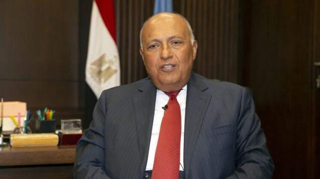 شكري: ندعم الجهود الرامية لتحقيق تسوية شاملة في ليبيا