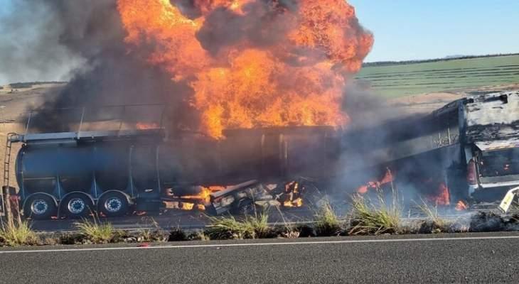 مقتل 7 أشخاص وإصابة 30 آخرين بحادث سير في جنوب افريقيا